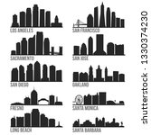 california cities most famous... | Shutterstock .eps vector #1330374230
