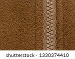 texture of brown fleece with... | Shutterstock . vector #1330374410