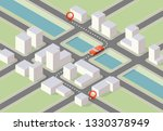 isometric city map navigation ... | Shutterstock .eps vector #1330378949