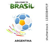 vector illustration of a soccer ... | Shutterstock .eps vector #1330384919