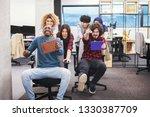 multiethnics startup business... | Shutterstock . vector #1330387709