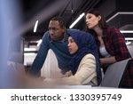 young multiethnics business... | Shutterstock . vector #1330395749