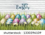 happy easter background with...   Shutterstock .eps vector #1330396109