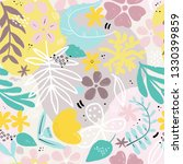 seamless pattern with hand... | Shutterstock .eps vector #1330399859