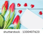 colorful spring tulip flowers... | Shutterstock . vector #1330407623
