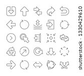 share arrow icons. set of ... | Shutterstock .eps vector #1330429610