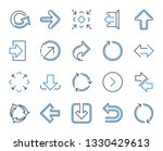 share arrow icons. set of... | Shutterstock .eps vector #1330429613