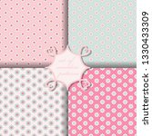 set of four vector seamless...   Shutterstock .eps vector #1330433309