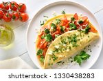 close up of stuffed omelette... | Shutterstock . vector #1330438283