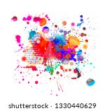 abstraction from colored paint... | Shutterstock .eps vector #1330440629