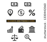 business and finance icons set... | Shutterstock .eps vector #1330442060