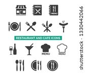 restaurant and cafe icons set... | Shutterstock .eps vector #1330442066
