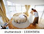 bride getting ready in a luxury ... | Shutterstock . vector #133045856