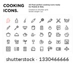 40 cooking icons  pixel perfect ...