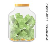 money economy saving bank coin... | Shutterstock .eps vector #1330468550