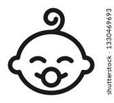 happy newborn baby   linear icon | Shutterstock .eps vector #1330469693