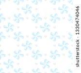 watercolor blue flower seamless ... | Shutterstock .eps vector #1330474046