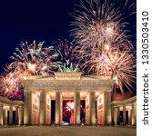 Brandenburg Gate With Firework...