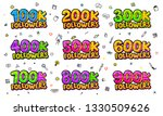 followers set with color...   Shutterstock .eps vector #1330509626