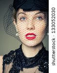 a young woman dressed in black... | Shutterstock . vector #133052030