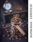 Coffee Beans In A Vintage Style