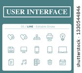 set of user interface icons in...