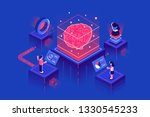machine learning  artificial... | Shutterstock .eps vector #1330545233