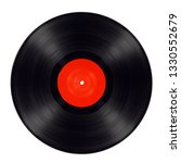 Old Black Vinyl Record Isolated ...