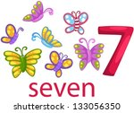 illustration of isolated number ... | Shutterstock .eps vector #133056350