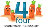 illustration of isolated number ... | Shutterstock .eps vector #133056389