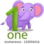 illustration of isolated number ... | Shutterstock .eps vector #133056416