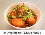 egg with tamarind sauce  sweet ... | Shutterstock . vector #1330570886