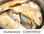 fried mackerel fish  | Shutterstock . vector #1330570910