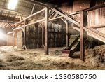 Inside Rustic Wooden Old Barn...