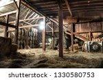 Inside Rustic Wooden Old Barn...