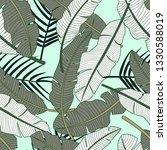 tropical leaves seamless... | Shutterstock .eps vector #1330588019