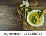 fish ball green curry with... | Shutterstock . vector #1330588793