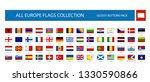 all europe flags round... | Shutterstock .eps vector #1330590866