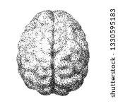 human brain consist of dots...   Shutterstock .eps vector #1330595183