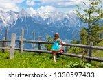 children hiking in alps...   Shutterstock . vector #1330597433