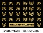 initial logo collection set... | Shutterstock .eps vector #1330599389