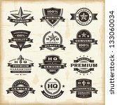 vintage premium quality labels... | Shutterstock . vector #133060034