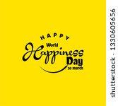 world happiness day vector...   Shutterstock .eps vector #1330605656