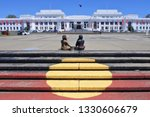 Small photo of CANBERRA - FEB 22 2019:The Aboriginal Tent Embassy in Canberra Parliamentary Zone Australia Capital Territory. Activists claim to represent the political rights of Aboriginal Australians.