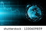 blue futuristic background.... | Shutterstock .eps vector #1330609859