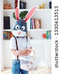 young boy in polygonal easter...   Shutterstock . vector #1330613513