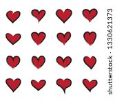heart icons set isolated on...   Shutterstock .eps vector #1330621373