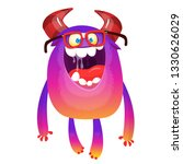 cartoon smart monster  wearing... | Shutterstock .eps vector #1330626029