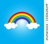 colorful rainbow and cloud... | Shutterstock .eps vector #1330628249