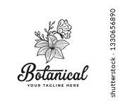 botanical logo with butterfly... | Shutterstock .eps vector #1330656890